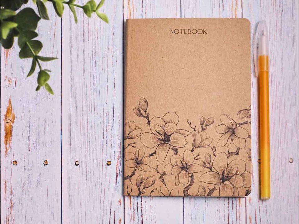 Блокнот а6 «Ботаника 1», крафт обложка, кремовый блок для записей, 24 листа
