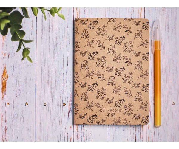 Блокнот а6 «Ботаника 3», крафт обложка, кремовый блок для записей, 24 листа