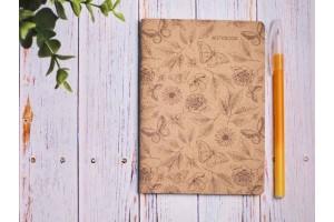 Блокнот а6 «Ботаника 4», крафт обложка, 24л