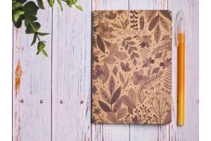 Блокнот а6 «Ботаника 5», крафт обложка, 24л