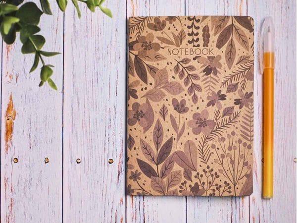 Блокнот а6 «Ботаника 5», крафт обложка