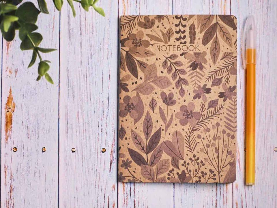 Блокнот а6 «Ботаника 5», крафт обложка, кремовый блок для записей, 24 листа