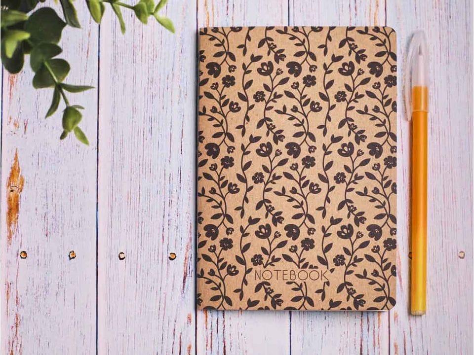 Блокнот а6 «Ботаника 7», крафт обложка, кремовый блок для записей, 24 листа
