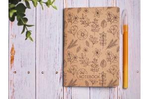 Блокнот а6 «Ботаника 8», крафт обложка, 24л