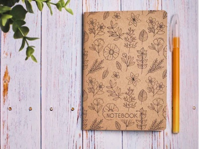 Блокнот а6 «Ботаника 8», крафт обложка