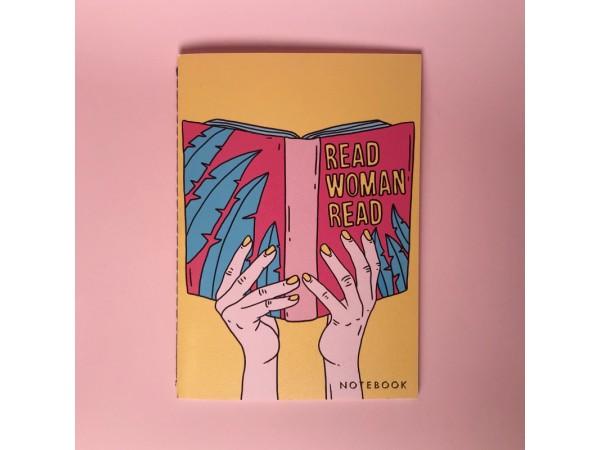 Тетрадь нелинованная «Read woman»