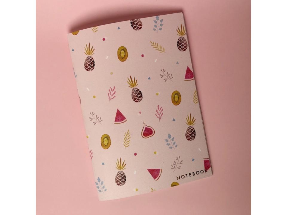 Тетрадь А5 на сшивке « Pineapple» 24 страницы