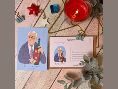 Открытка почтовая портрет Рэя Брэдбери