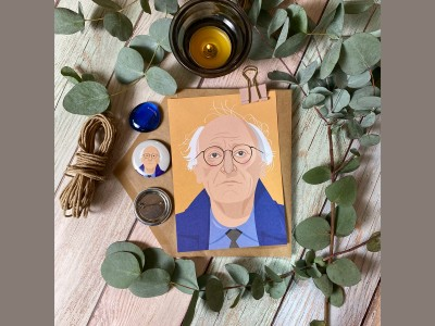 Открытка почтовая портрет Иосифа Бродского
