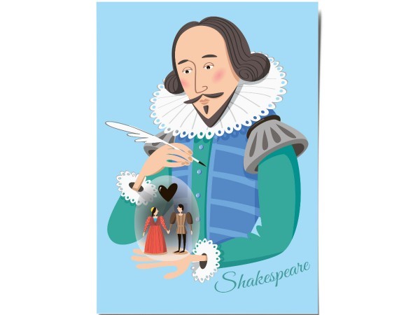 Открытка почтовая «Шекспир»