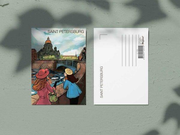 Почтовая открытка «Исаакиевский собор», Петербург