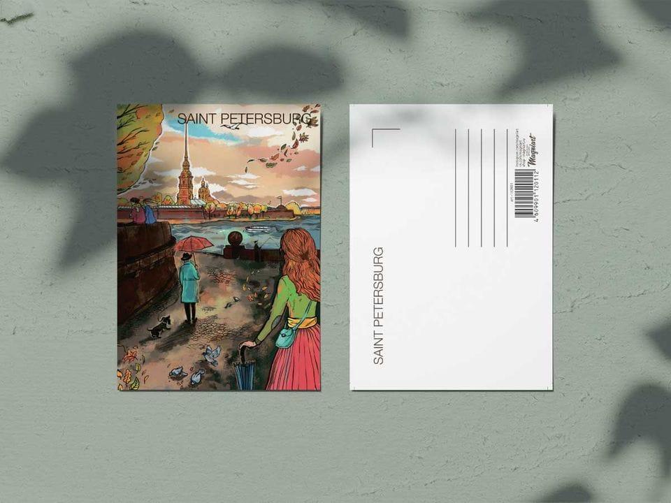 Почтовая открытка из коллекции Романтический Петербург «Петропавловская крепость»