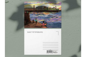 Почтовая открытка «Стрелка Васильевского острова. Биржа», Петербург