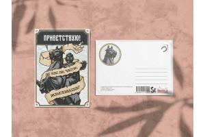Почтовая открытка Медный всадник