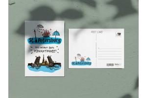 Почтовая открытка «St. Petersburg что может быть романтичнее», Петербург