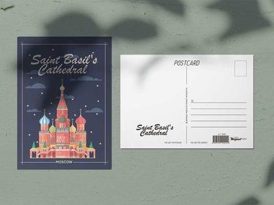 Почтовая открытка «Храм Василия Блаженного» (Москва)