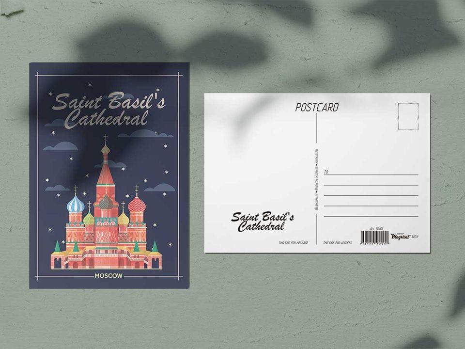 Почтовая открытка из коллекции Москва «Храм Василия Блаженного»