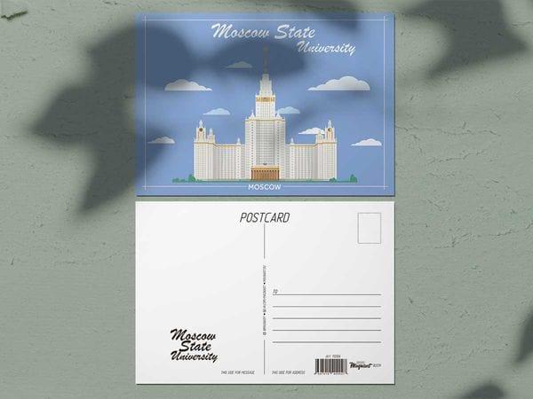 Почтовая открытка «МГУ» (Москва)