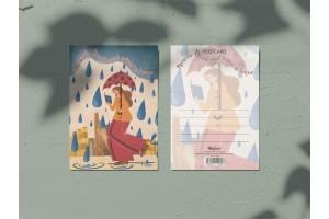 Почтовая открытка «Москва слезам не верит»