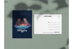 Почтовая открытка «Дворцовый мост. Ночь»