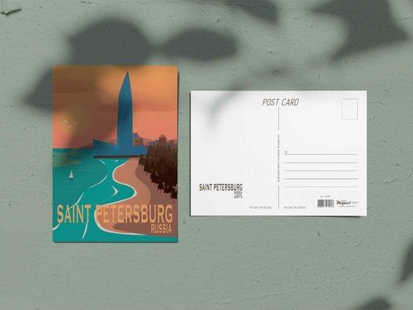 Почтовая открытка «Лахта центр», Петербург