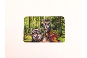 Почтовая открытка «Василий царевич и серый волк», Александр Завалий
