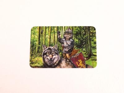 Почтовая открытка «Василий царевич и серый волк»