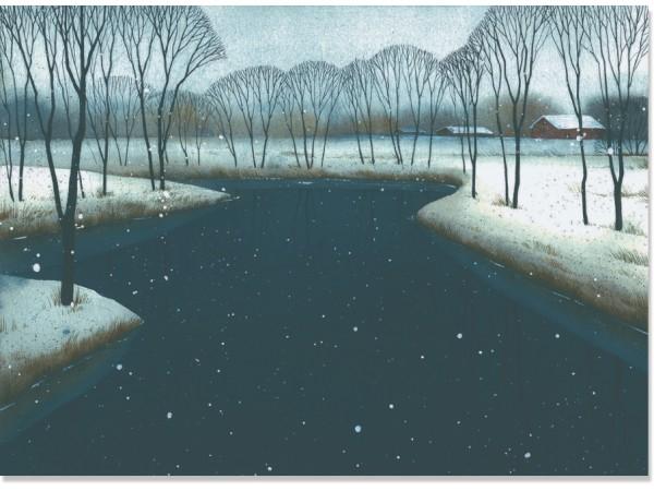 Открытка Зимний ручей