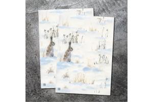 Открыта почтовая  «Заяц зимой»