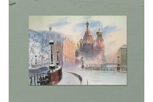 Открытка почтовая «Спас-на-Крови» Художника  С. Темерева