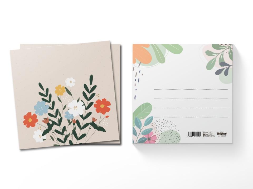 Почтовая открытка квадратная (13х13) Маргаритки