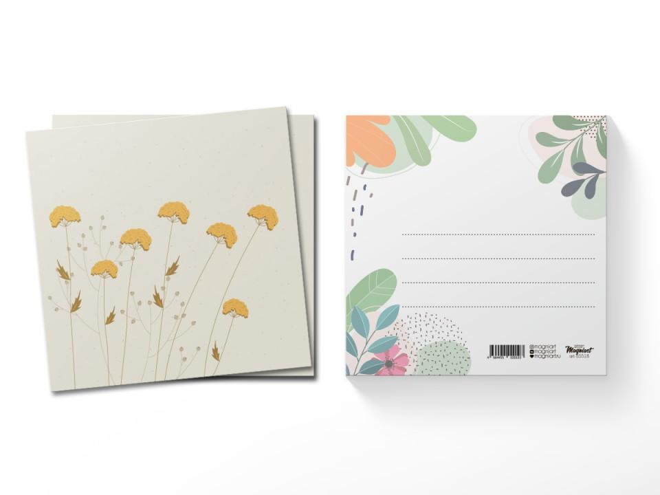 Почтовая открытка квадратная (13х13) Пижма