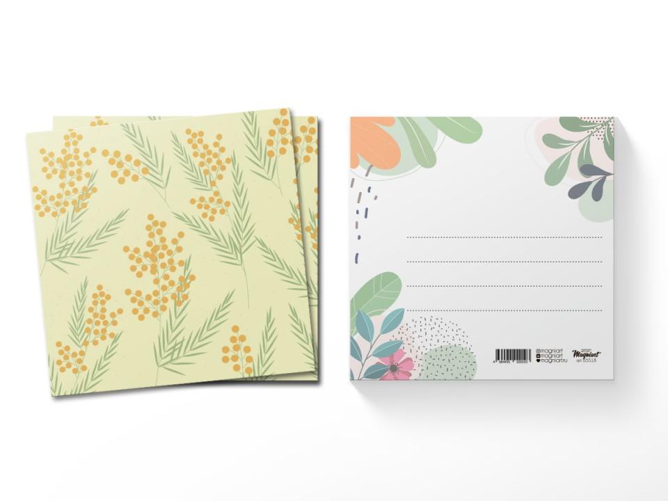 Почтовая открытка квадратная (13х13) Мимоза