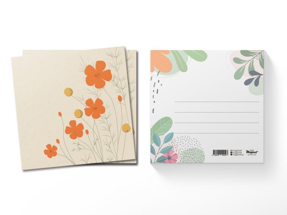Почтовая открытка квадратная (13х13) Эшшольция