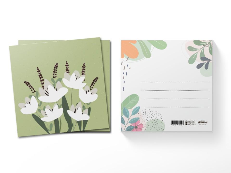 Почтовая открытка квадратная (13х13) Тюльпаны
