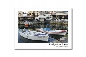 Открытка Остров Крит. Лодки
