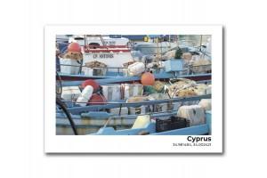 Открытка Остров Кипр. Рыболовецкие судна