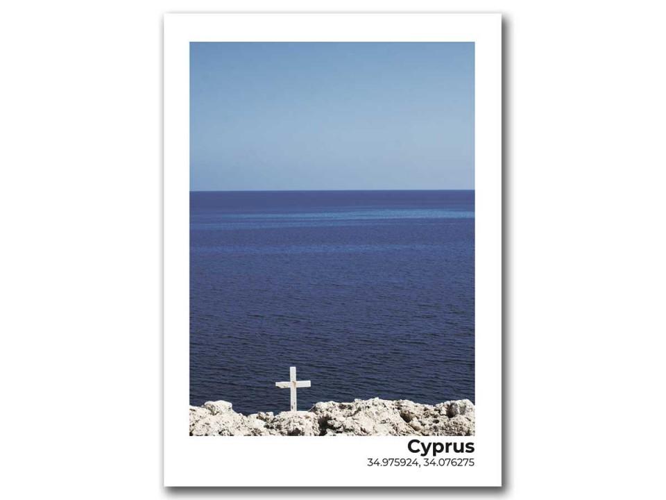 Авторская фото открытка. Кипр - морской пейзаж