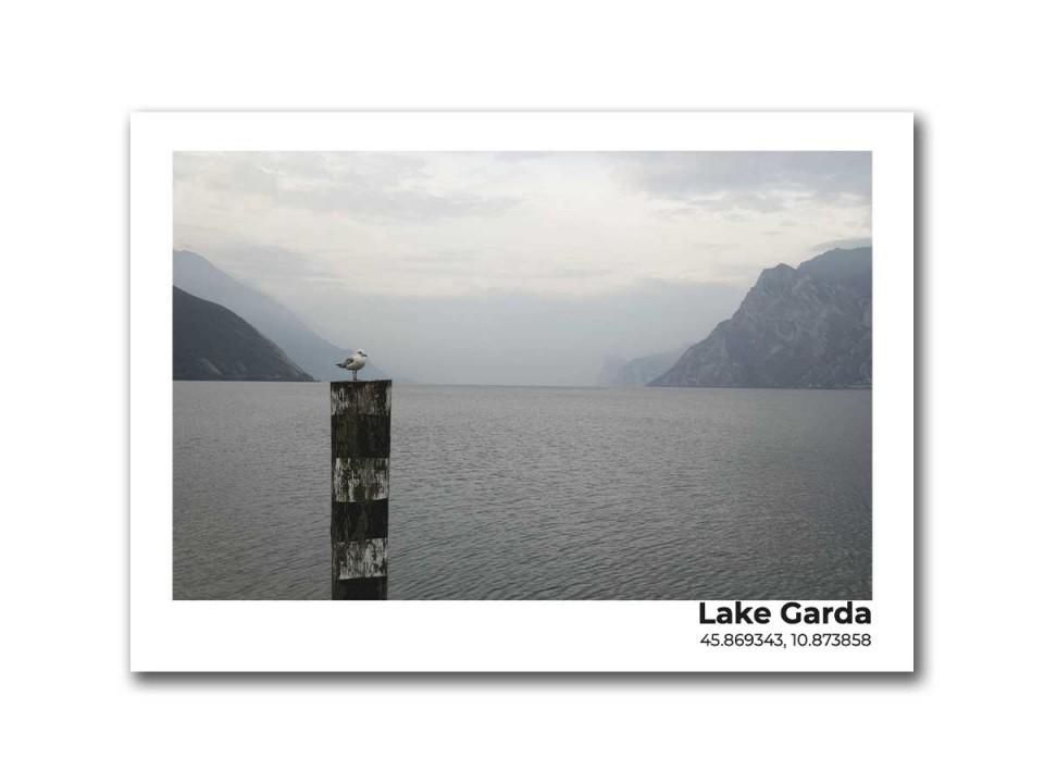 Авторская фото открытка. Озеро Гарда