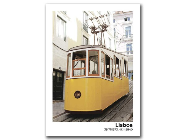 Открытка Лиссабон. Желтый трамвай