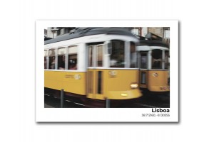 Открытка Лиссабон. Трамваи в Лиссабоне