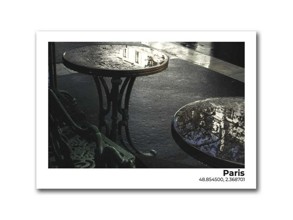 Авторская фото открытка Париж после дождя