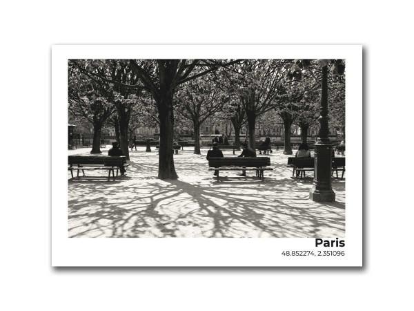 Открытка Парк в Париже