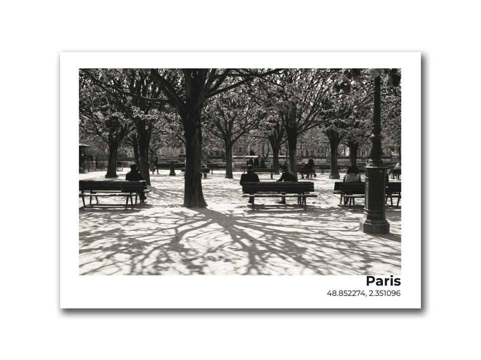 Авторская фото открытка Париж, парк