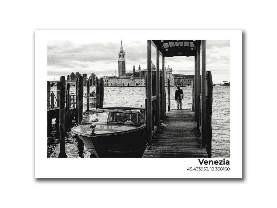 Авторская фото открытка Венеция, пристань