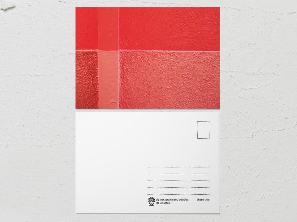 Авторская фото открытка «Краски на стенах», красно-розовая стена