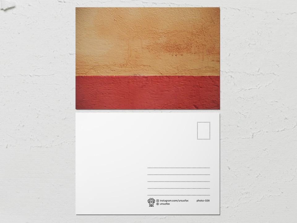 Авторская фото открытка «Краски на стенах», песочно-красная стена