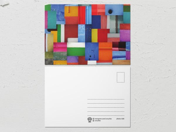 Открытка «Краски на стенах», коллекция стен