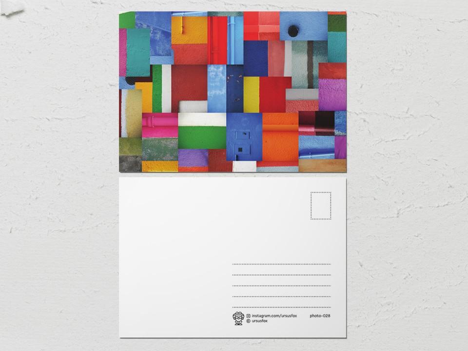 Авторская фото открытка «Краски на стенах», коллекция стен