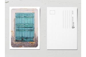 Открытка «Двери мира», бирюзовая дверь